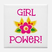 Flower Girl Power Tile Coaster