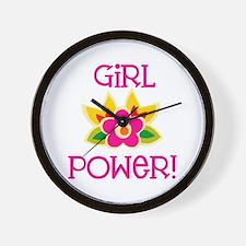 Flower Girl Power Wall Clock