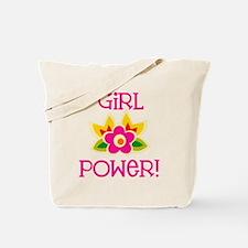 Flower Girl Power Tote Bag