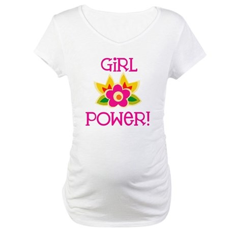 Flower Girl Power Maternity T-Shirt