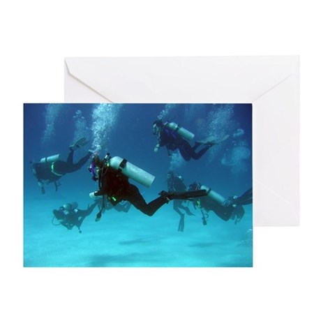 SCUBA Divers Blank Greeting Card