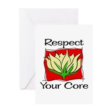Pilates Respect Your Core Greeting Card