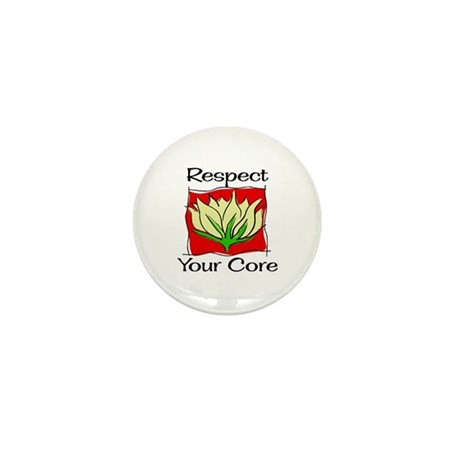 Pilates Respect Your Core Mini Button (100 pack)
