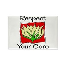 Pilates Respect Your Core Rectangle Magnet