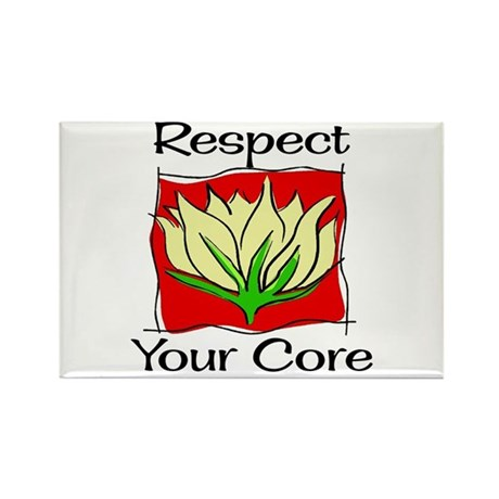Pilates Respect Your Core Rectangle Magnet (10 pac