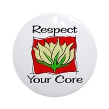 Pilates Respect Your Core Ornament (Round)