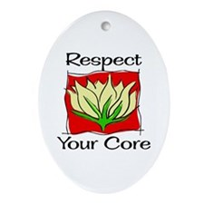 Pilates Respect Your Core Oval Ornament