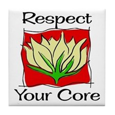 Pilates Respect Your Core Tile Coaster