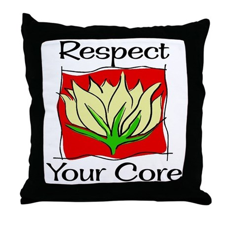 Pilates Respect Your Core Throw Pillow
