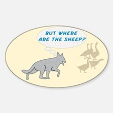 Where Are The Sheep? v3 Oval Decal