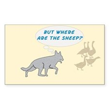 Where Are The Sheep? v3 Rectangle Decal