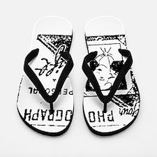 vintage reminder stamp Flip Flops