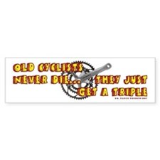 Old Cyclists Bumper Bumper Sticker