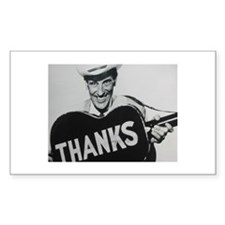 Ernest Tubb (Thanks) Rectangle Decal