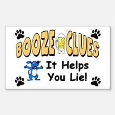 """Booze Clues: It Helps You Lie!"" Decal"