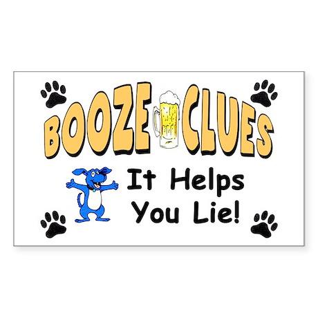 """Booze Clues: It Helps You Lie!"" Sticker"