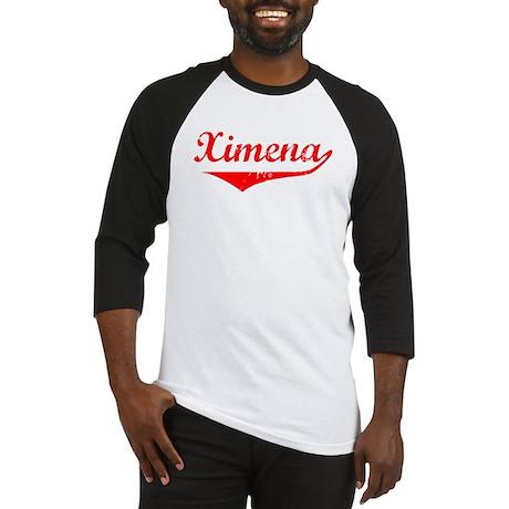 Ximena Vintage (Red) Baseball Jersey