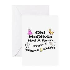 Old McOlivia Had a Farm Greeting Card