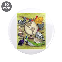 """Assorted Poultry 3.5"""" Button (10 pack)"""