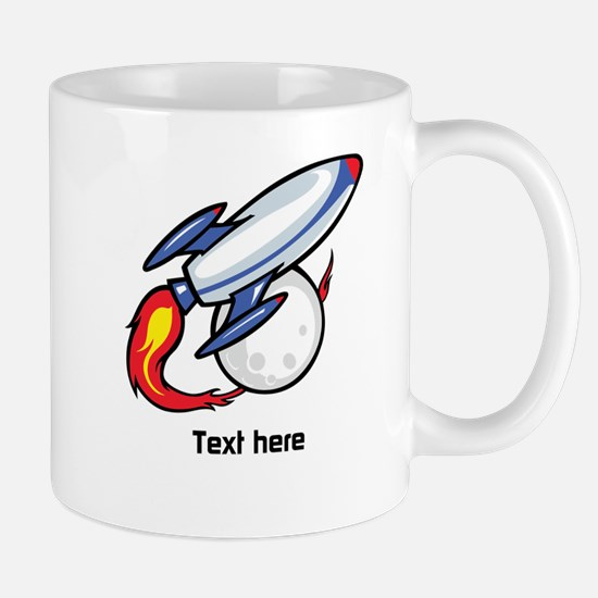 Rocket Design with Custom Text Mugs
