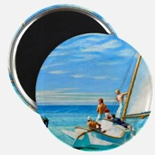 Ground Swell by Edward Hopper Magnets