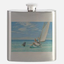 Ground Swell by Edward Hopper Flask