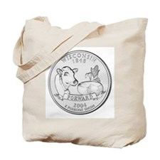 Wisconsin State Quarter Tote Bag