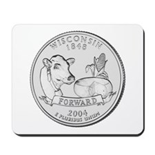 Wisconsin State Quarter Mousepad