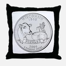 Wisconsin State Quarter Throw Pillow