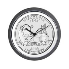 Wisconsin State Quarter Wall Clock