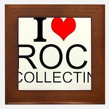 I Love Rock Collecting Framed Tile