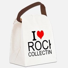 I Love Rock Collecting Canvas Lunch Bag