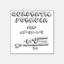 """Cute Quadratic formula Square Sticker 3"""" x 3"""""""