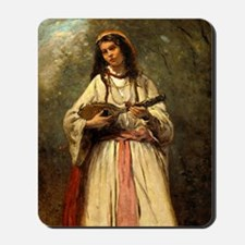 Gypsy Girl With a Mandolin by Corot Mousepad