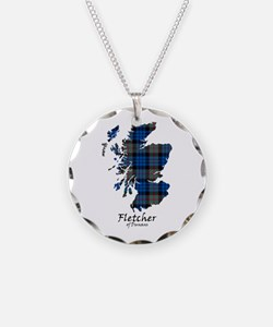 Map - Fletcher of Dunans Necklace Circle Charm