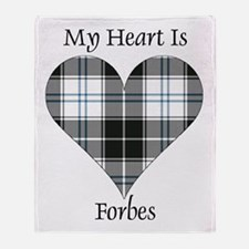 Heart-Forbes dress Throw Blanket