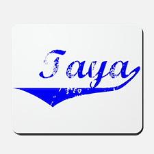 Taya Vintage (Blue) Mousepad