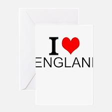 I Love England Greeting Cards