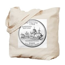 Virginia State Quarter Tote Bag