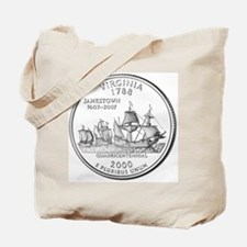 Virginia State Quarter Tote Bag