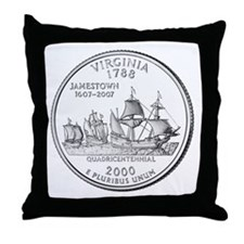 Virginia State Quarter Throw Pillow