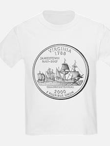 Virginia State Quarter Kids T-Shirt