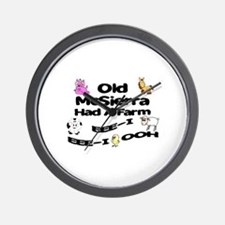Old McSierra Had a Farm Wall Clock