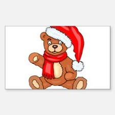 Santa Teddy Bear with Red Scarf Decal