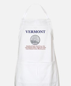 Vermont State Quarter with Fa BBQ Apron