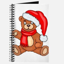 Santa Teddy Bear with Red Scarf Journal