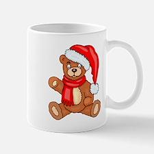 Santa Teddy Bear with Red Scarf Mugs