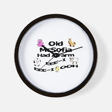 Old McSofia Had a Farm Wall Clock