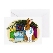 Rabbit Christmas Present Greeting Cards (Pk of 10)