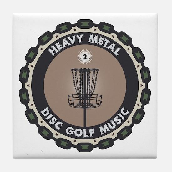 Disc Golf Chains Tile Coaster